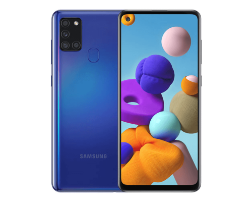 Samsung Galaxy A21s, Dual Sim, 64GB, 6.5 inches, Octa-Core, 4GB, 48+8+2+2 MP, Blue, image 1