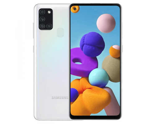 Samsung Galaxy A21s, Dual Sim, 64GB, 6.5 inches, Octa-Core, 4GB, 48+8+2+2 MP, White, image 1